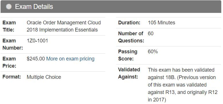 1Z0-1001 Practice Test Questions - Oracle Order Management